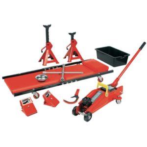 Brüder Mannesmann 10-teiliges Werkzeug-Set Rot 00350