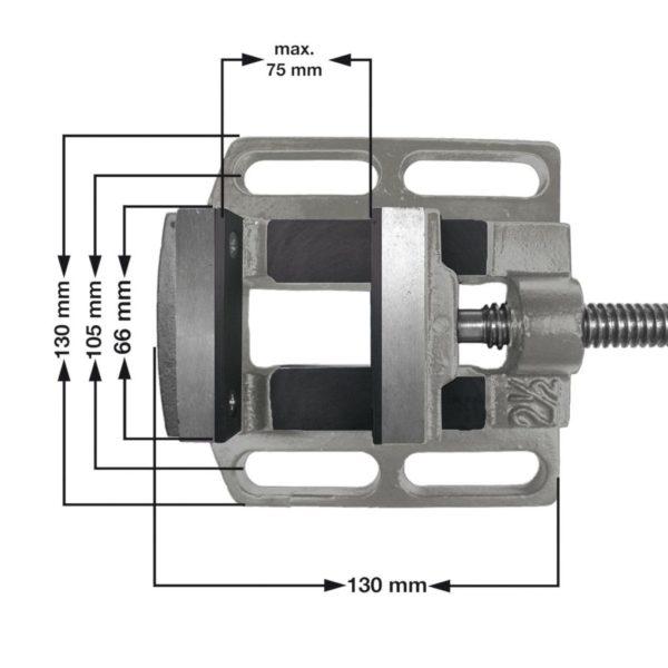 Einhell Schraubstock 75 mm für Säulenbohrmaschine