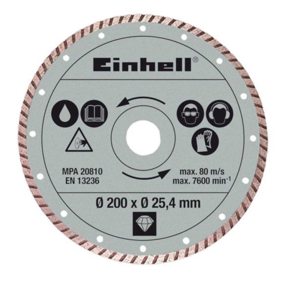 Einhell Turbo Trennscheibe 200×25,4mm für RT-TC 520 U und TE-TC 620 U