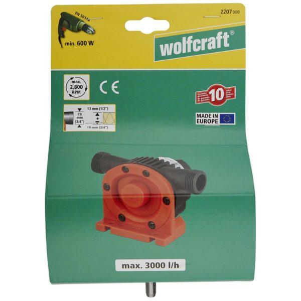 wolfcraft Bohrmaschinen-Pumpe 3000 l/h S=8 mm 2207000