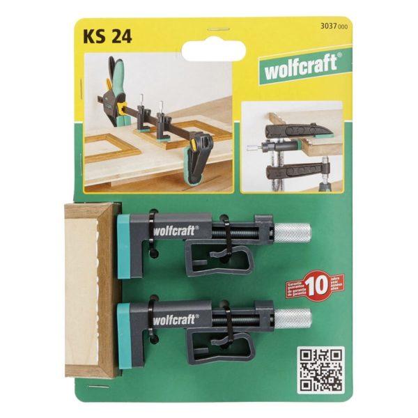 wolfcraft Schraubzwingen KS 24 2 Stk. 3037000
