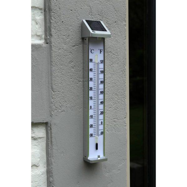 Nature Außenthermometer mit solarbetriebenem LED-Licht