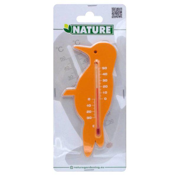 Nature Garten Wandthermometer Vogelform Orange
