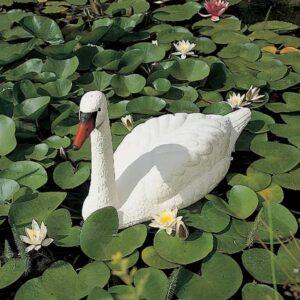 Ubbink Weißer Schwan Gartenfigur Gartendekoration Teichdeko