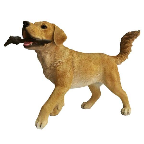 Esschert Design Labrador mit Stock 62,6×23,7×40 cm