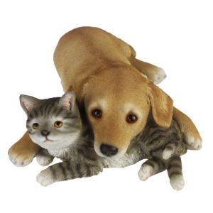 Esschert Design Hund und Katze Liegend 30,5×40×12,5 cm