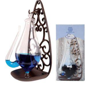 Esschert Design Glasbarometer mit Gusseisenhalterung 0,5 L TH31