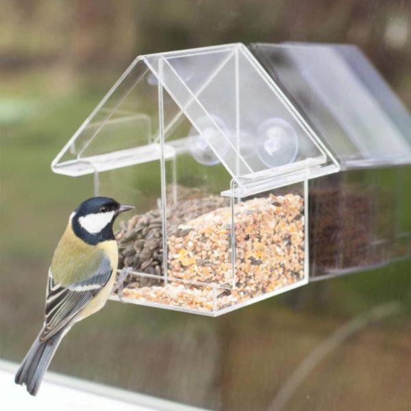 Esschert Design Kombi-Fenster-Vogelfutterhaus Acryl