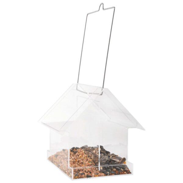 Esschert Design Kombi-Vogelfutterhaus Hängend Acryl