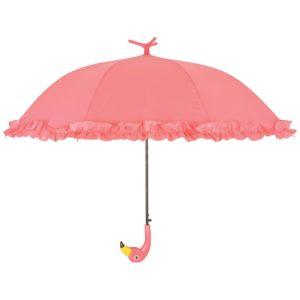 Esschert Design Regenschirm mit Rüschen Flamingo 98 cm Rosa TP203