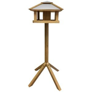 Esschert Design Vogelhäuschen Quadratisches Stahldach FB433