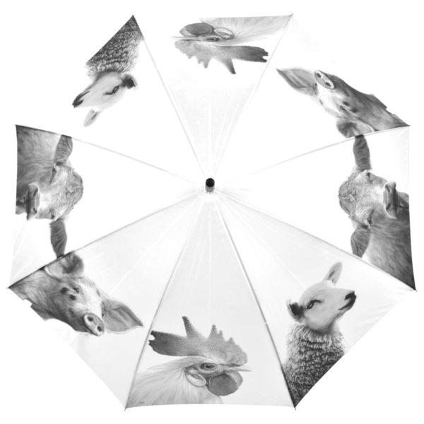 Esschert Design Regenschirm Bauernhoftiere