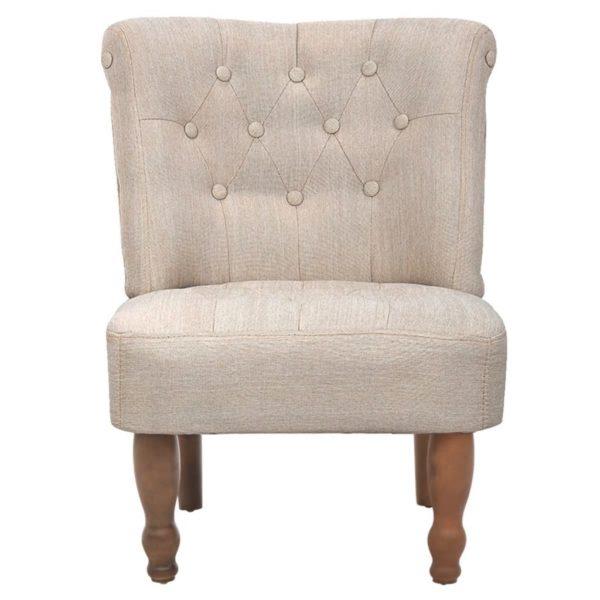 Französischer Stuhl Creme Stoff