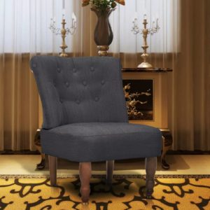 Französischer Sessel Grau Stoff