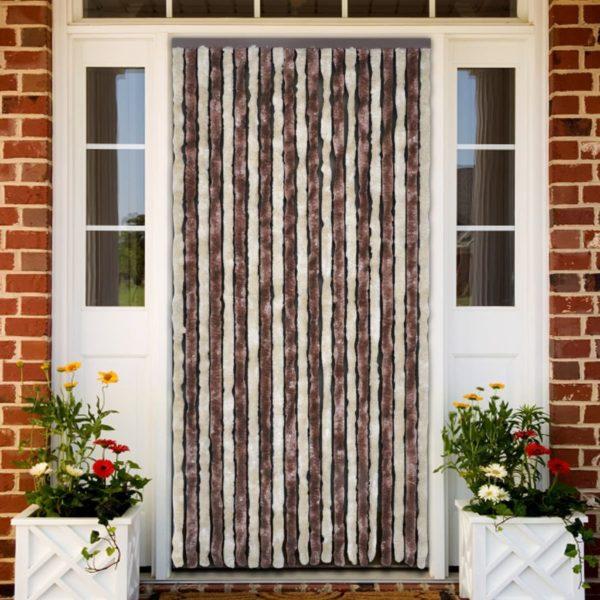 Insektenschutz-Vorhang Beige und Hellbraun 100×220 cm Chenille