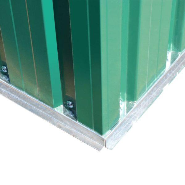 Gartenschuppen Grün Metall 204 x 132 x 186 cm