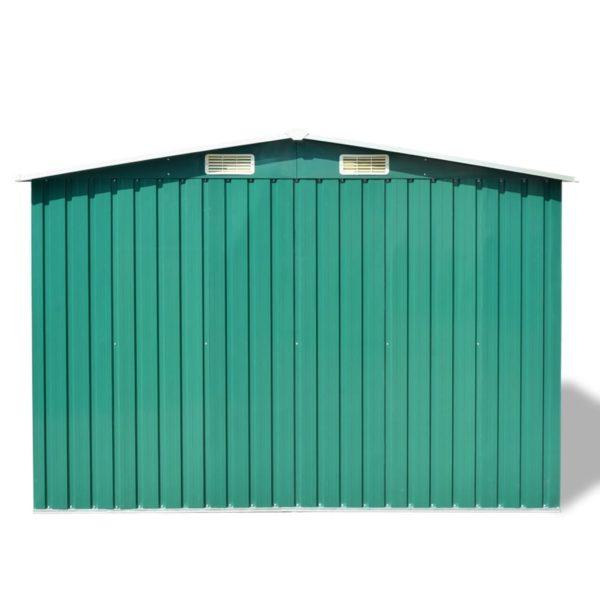 Gartenschuppen Grün Metall 257 x 205 x 178 cm