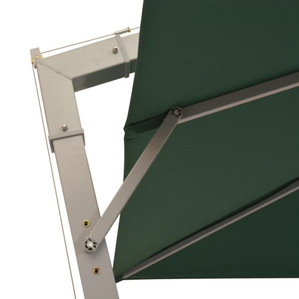 Sonnenschirm Ampelschirm 300 x 300 cm Grün Aluminiummast