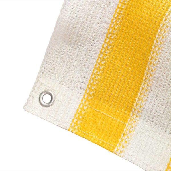 Balkonschirm HDPE 90 x 600 cm Gelb und Weiß