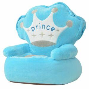 Plüsch-Kindersessel Prinz Blau