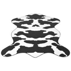 Teppich Fellimitat Kuh 150 x 220 cm Schwarz