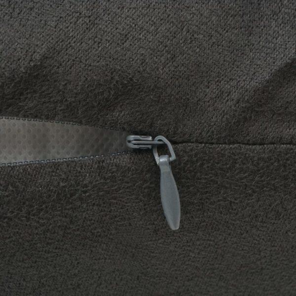 Kissenbezüge 4 Stk. 80×80 cm Polyester Wildleder-Optik Anthrazit