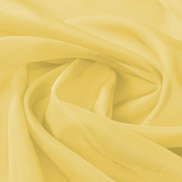 Voile-Stoff 1,45 x 20 m Gelb