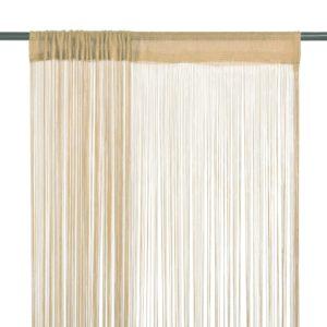 Fadenvorhänge 2 Stk. 140 x 250 cm Beige
