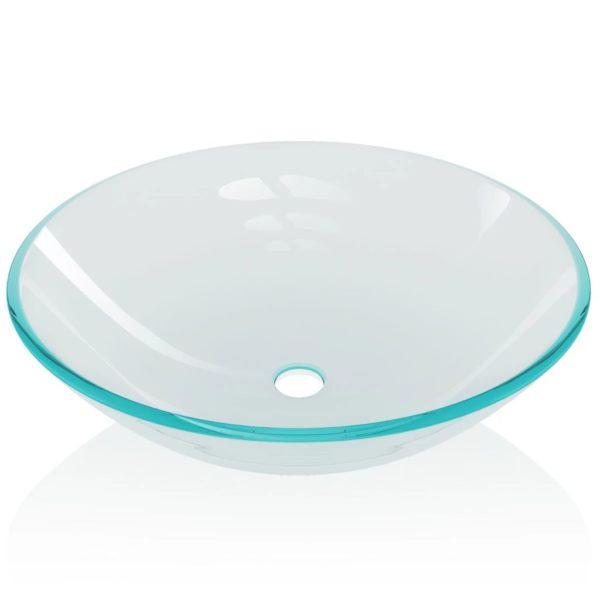 Waschbecken gehärtetes Glas 42 cm transparent