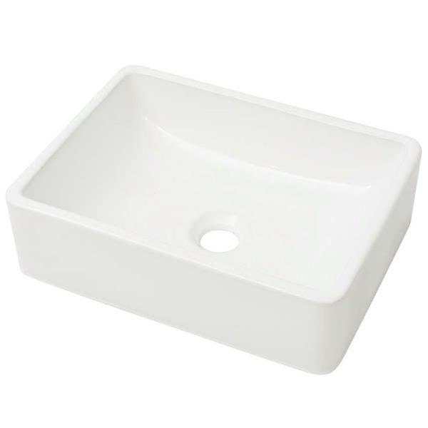 Waschbecken Keramik Weiß 41 x 30 x 12 cm