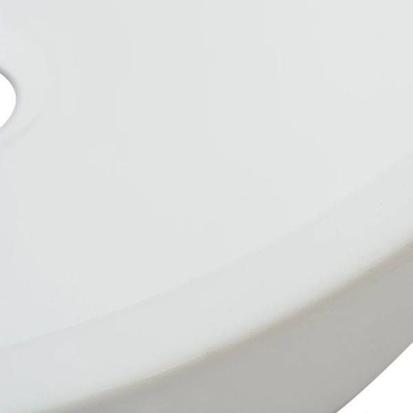 Waschbecken Rund Keramik Weiß 42 x 12 cm