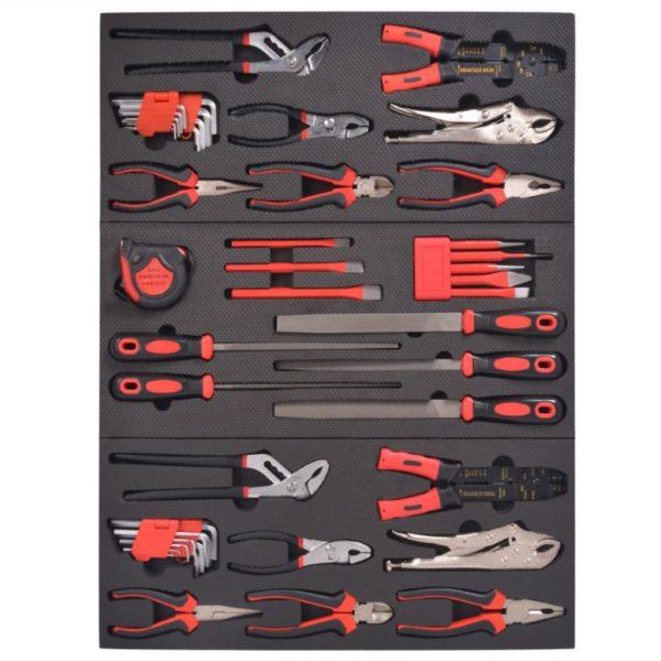 Werkzeugwagen mit Werkzeugsatz und 7 Schubladen