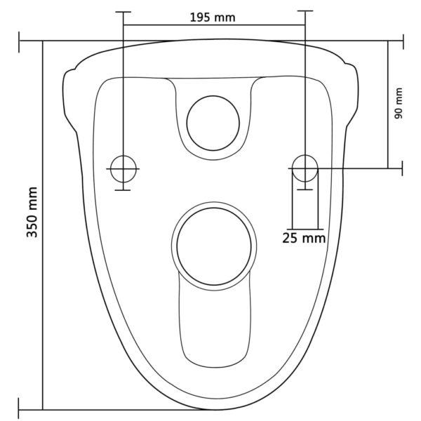 Wand-WC mit Absenkautomatik-Sitz Keramik Dunkelbraun