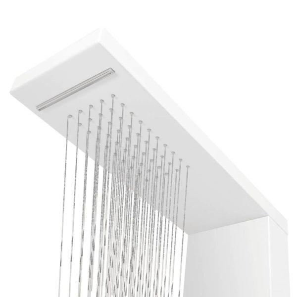 Duschpaneel-System Aluminium Mattweiß