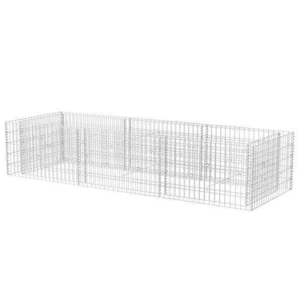 Gabionen-Hochbeet Stahl 270×90×50 cm