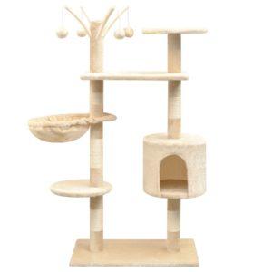 Katzen-Kratzbaum 125 cm Beige