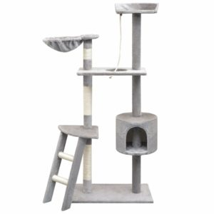 Katzen-Kratzbaum 150 cm Grau