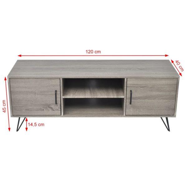 TV-Schrank 120x40x45 cm Grau