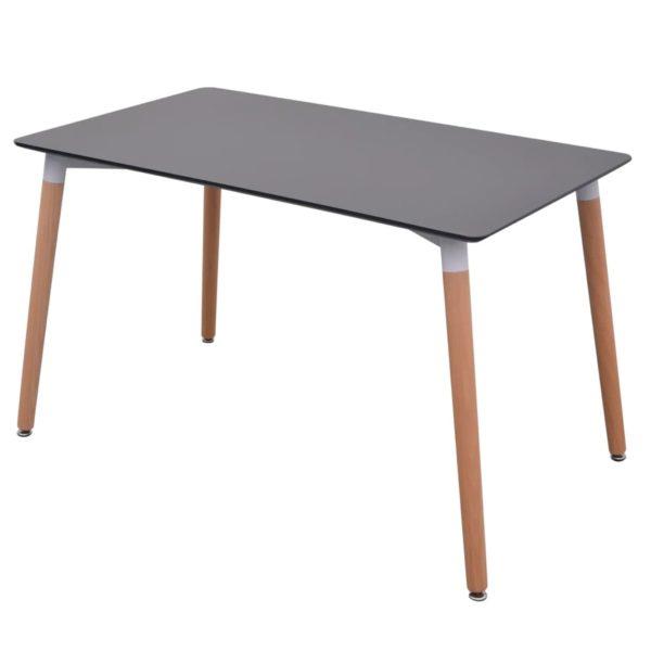 5-teilige Essgruppe Tisch Stühle Schwarz