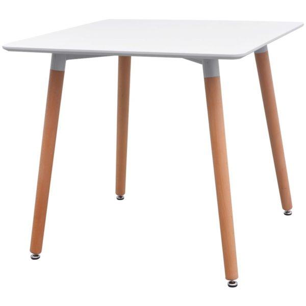5-teilige Essgruppe Tisch Stühle Weiß