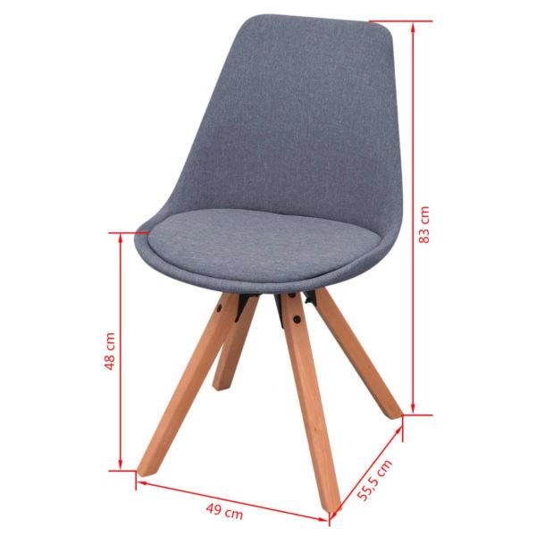 5-teilige Essgruppe Tisch Stühle Schwarz und Hellgrau
