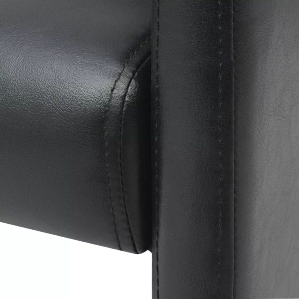 Esszimmerstühle 2 Stk. Schwarz Kunstleder