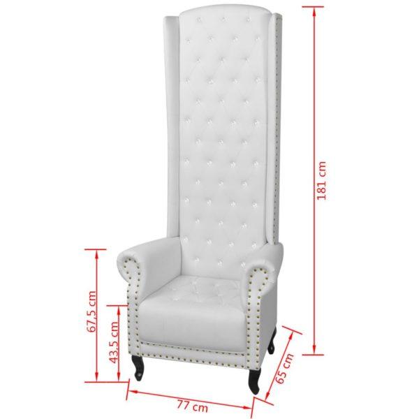 Hochlehner-Sessel Weiß Kunstleder
