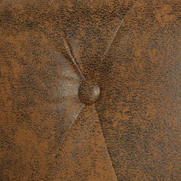 Chesterfield Sofa 3-Sitzer Kunstleder Braun