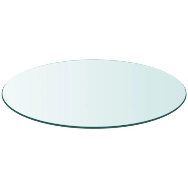 Tischplatte aus gehärtetem Glas rund 700 mm