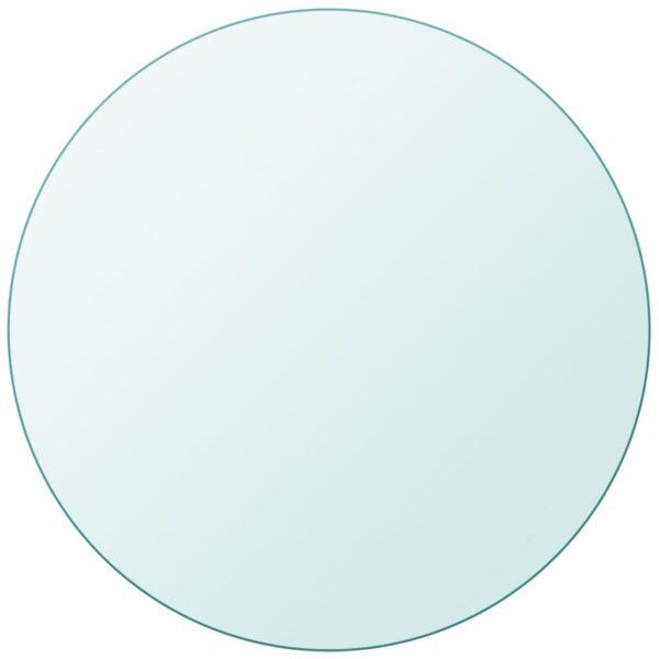 Tischplatte aus gehärtetem Glas rund 800 mm