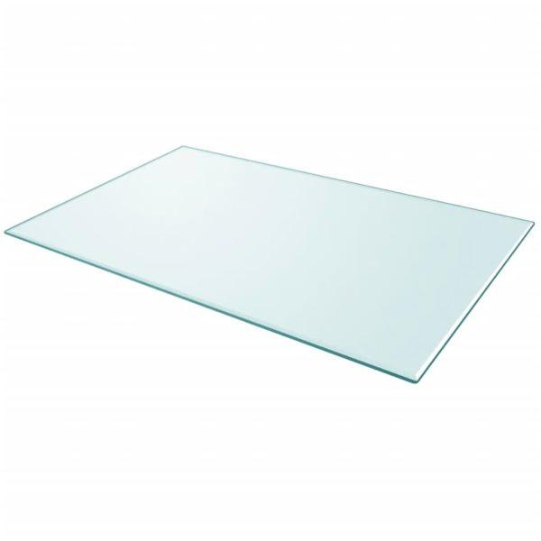 Tischplatte aus gehärtetem Glas rechteckig 1000×620 mm