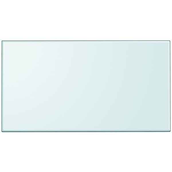 Tischplatte aus gehärtetem Glas rechteckig 1200×650 mm