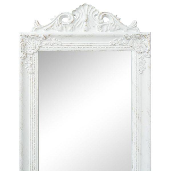 Standspiegel im Barock-Stil 160×40 cm Weiß