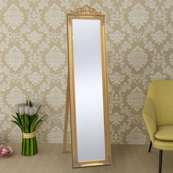 Standspiegel im Barock-Stil 160×40 cm Gold